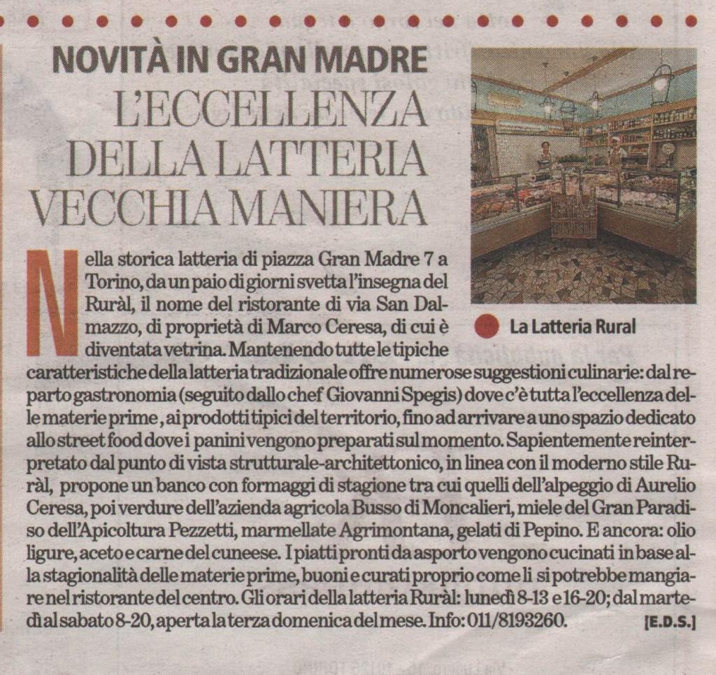 latteria Ruràl, Torinosette 5 settembre 2014